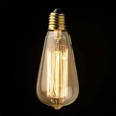 vintage edison filament bulb large teardrop bayonet or