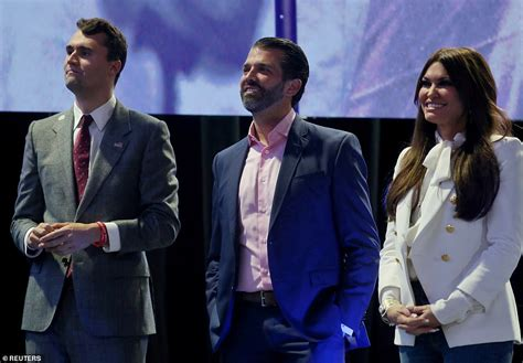 trump jr kirk charlie donald turning point usa founder pelosi guilfoyle girlfriend kimberly his impeachment argues sent articles case because