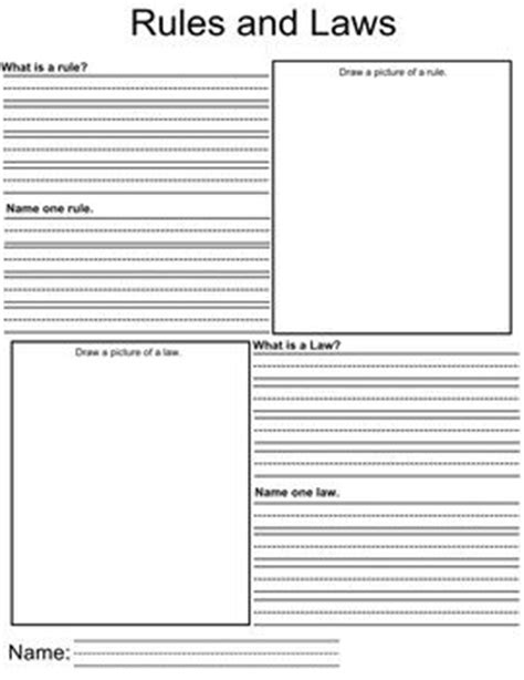 rules and laws worksheet social studies rules laws