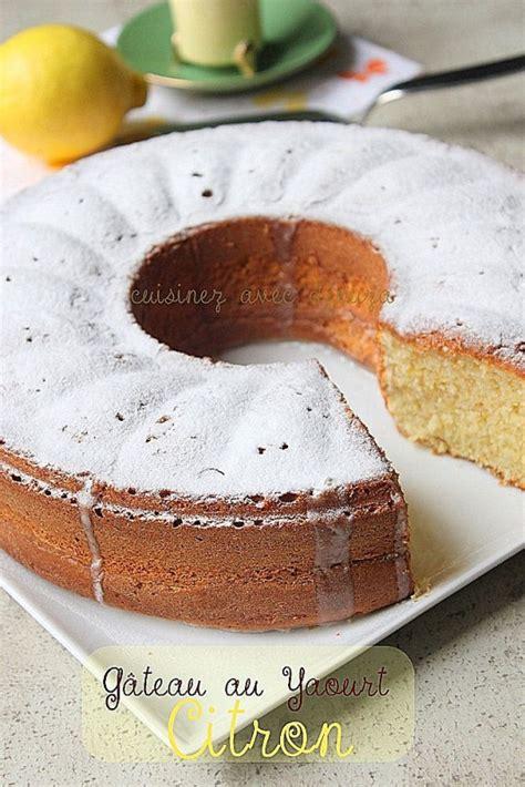 gateau au yaourt citron recettes faciles recettes