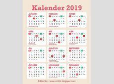 si Tukang Desain GRATIS Download vektor kalender 2019