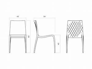 Dimension Chaise Standard : hd home design ki lot de 4 chaises horm ~ Melissatoandfro.com Idées de Décoration