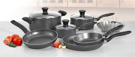 Fresh Furniture  Kitchen Pots And Pans Set With Home