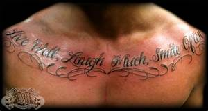 Text on chest by state-of-art-tattoo on DeviantArt