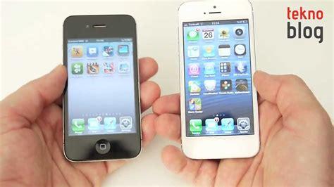 iPhone 5 vs. iPhone 4S - YouTube