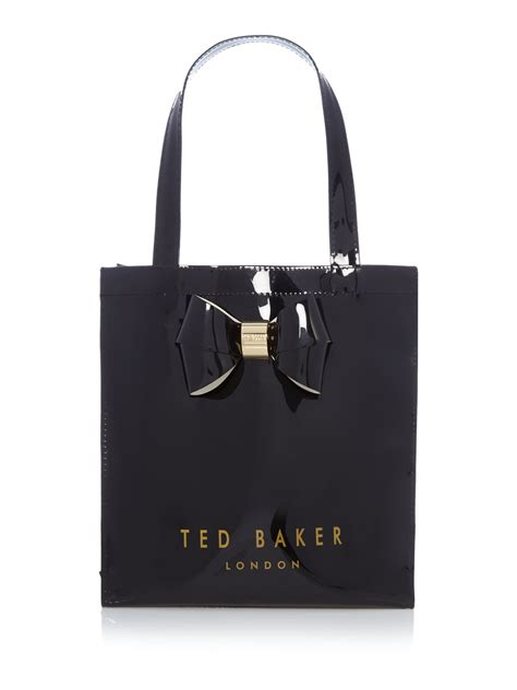 ted baker didicon bowcon black small tote bag lyst