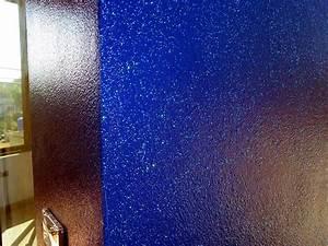 Ping view metallic blue wall interior wall paint for Interior metallic wall paint