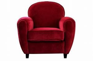 fauteuil club en velours rouge chicago fauteuil design With fauteuil club rouge pas cher