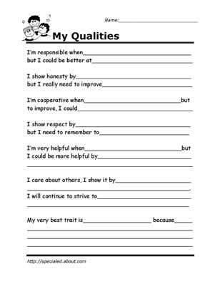 printable worksheets for kids to help build their social skills self esteem activities social