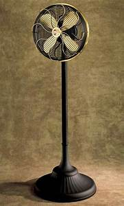 Antique Pedestal Fan For Retro Interior