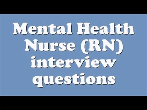 Questions And Answers For Mental Health Nurses by Mental Health Rn Questions