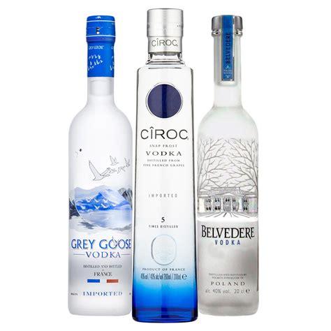 and vodka the ultimate vodka tasting set ciroc grey goose belvedere 3x20cl drinksupermarket
