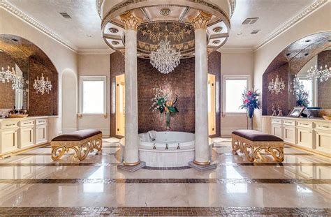 white tile bathroom designs luxurious mansion bathrooms pictures designing idea