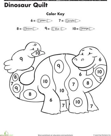 dinosaur color by number color by numbers dinosaurs and numbers