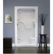 One Piece Acrylic Tub Shower Units by Mirolin Madison 48 Inch 1 Piece Acrylic Shower Stall With Seat Home Depot C