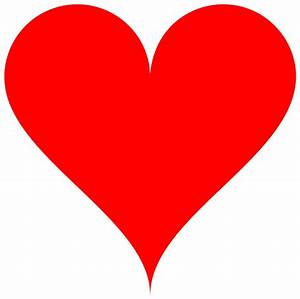 Red Love Heart Clipart - ClipartXtras