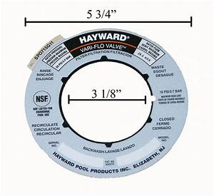 Hayward Sand Filter Valve Label Plate Sticker Spx0715g