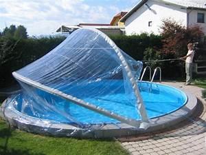 Pool Mit überdachung : rundbecken berdachung cabrio dome pool berdachung rund ~ Michelbontemps.com Haus und Dekorationen