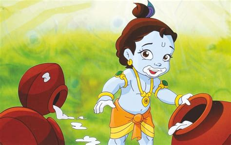 Krishna Makhan Chor Cartoon Images