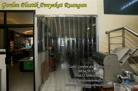 tirai gorden plastik transparan bening murah berkualitas pvc curtain zaldi gorden dan