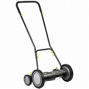 Earthwise 16 U0026quot  Manual Reel Mower  U2013 American Lawn Mower Co