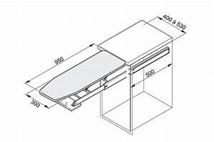 Table à repasser escamotable pour meuble bas Accessoires Cuisines