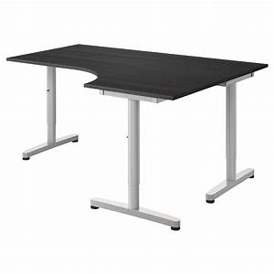 Mobilier De Bureau Ikea : galant corner desk right black brown ikea two of these with file draws would be the ideal ~ Dode.kayakingforconservation.com Idées de Décoration