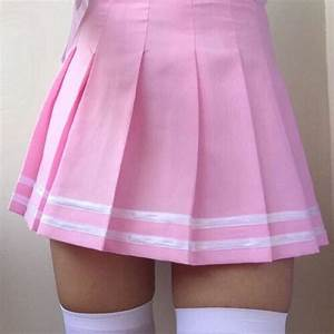 Skirt pink skirt cute outfits aesthetic tumblr pink pretty tennis skirt - Wheretoget
