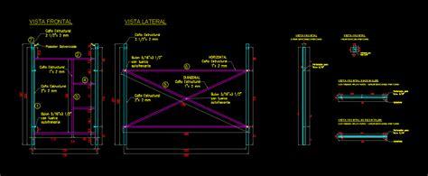 Tubular Scaffolding 250x135 Cm In Autocad Cad 11287 Kb