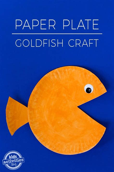 paper plate goldfish craft kids activities