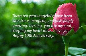 10 year wedding anniversary With 10th year wedding anniversary message for my husband