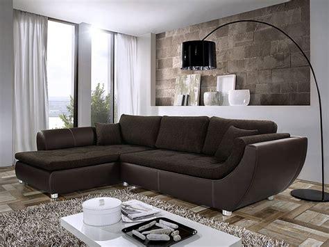 sofa kunstleder braun wohnlandschaft avery 287x196cm webstoff braun kunstleder braun sofa kaufen bei vbbv gmbh
