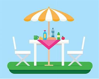 Vector Patio Furniture Clip Outdoor Illustrations Picnic