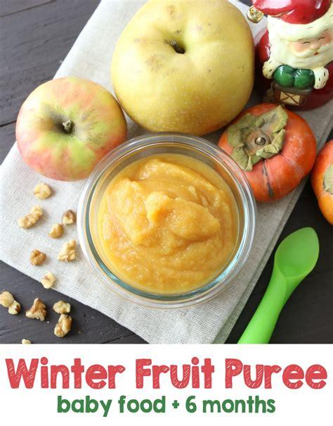 winter fruit puree baby food recipe buona pappa