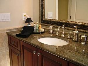 Bathroom counter top materials - pros and cons