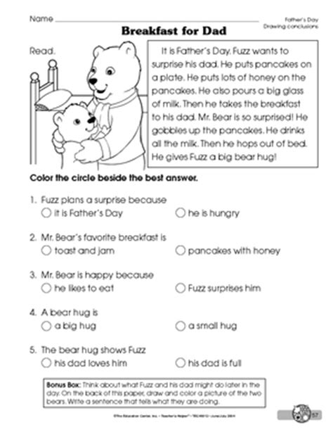 drawing conclusions worksheets results for drawing