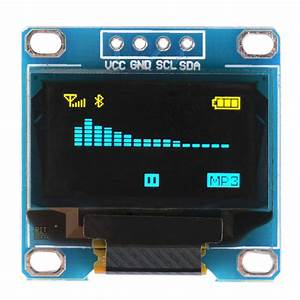 "0.96"" I2C SPI Serial 128X64 OLED LCD LED Display Module ..."