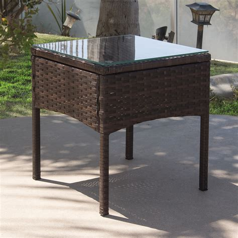 wicker patio coffee table 3pc rattan wicker bistro sofa set coffee table chair 1522