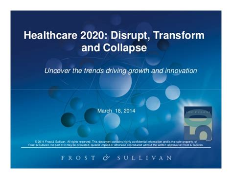 If you want to keep your same plan, you should still update your information and check out all the plans available to you. Healthcare 2020: Disrupt, Transform and Collapse