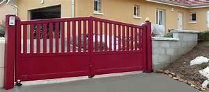 Portail Battant 5 Metres : a double tour portail et portillon contemporain traditionnel battant coulissant ou autoportant ~ Nature-et-papiers.com Idées de Décoration