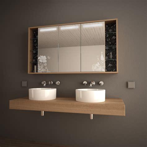 Badezimmer Spiegelschränke Holz by Holz Spiegelschrank Mit Led Hermosa 989705253