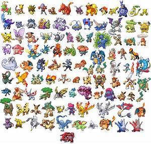 100 fused pokemon sprites