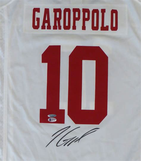 san francisco ers jimmy garoppolo autographed signed