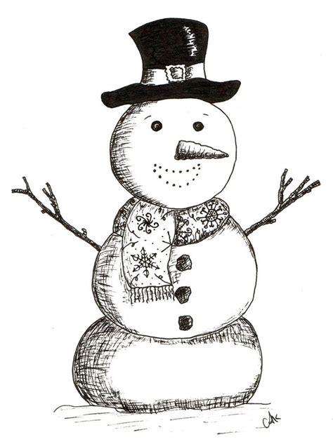 hand drawn christmas card  ink   printed