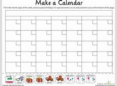 Make a Calendar! Worksheet Educationcom