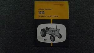 John Deere Jd 1010 Wheel Tractor Owner Operator