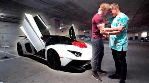 bought  brother  dream car lamborghini aventador
