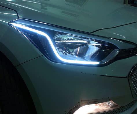hyundai  elite custom headlights drl daytime running