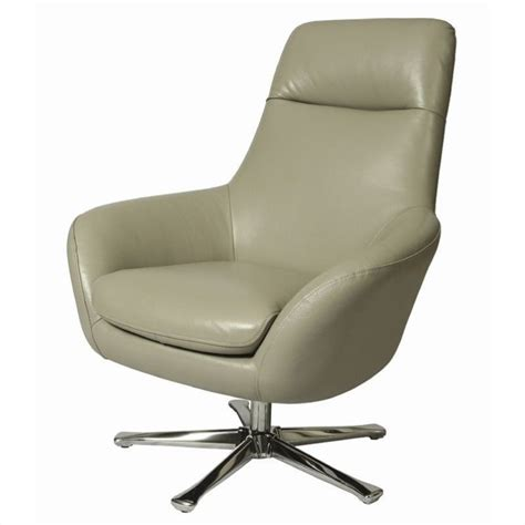 pastel furniture ellejoyce leather club chair in gray