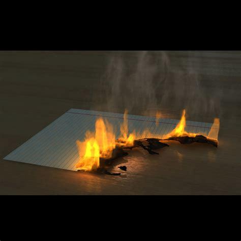 model  fumefx burning paper